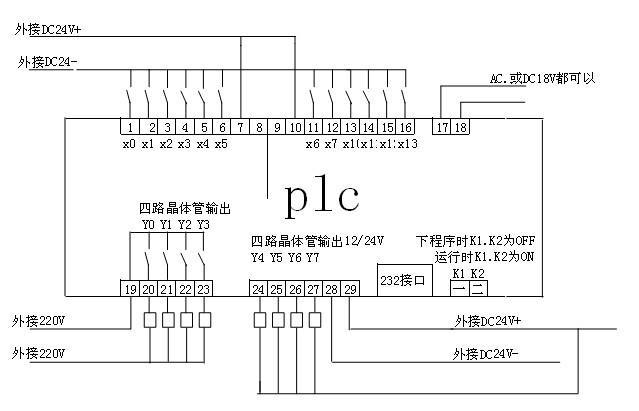 三菱FX系列PLC接线图