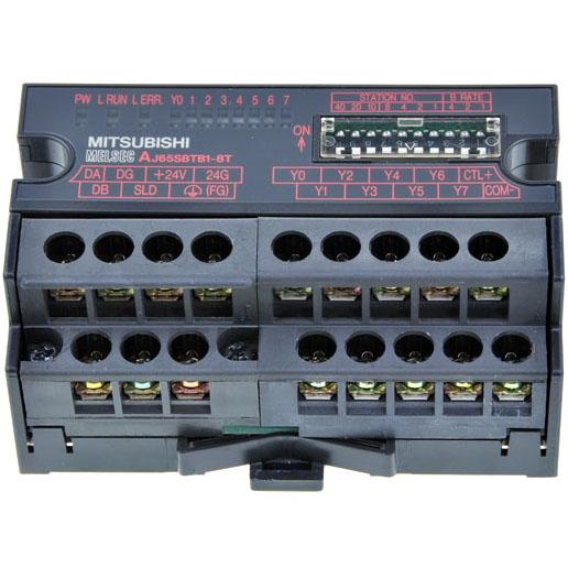 AJ65SBTB2-8T为三菱CC-LINK端子排型输出模块,AJ65SBTB2-8T价格(面价)2330,AJ65SBTB2 8T、AJ65SBTB28T。 AJ65SBTB2-8T参数说明:8点晶体管漏型输出 DC12/24V 0.5A/1点 2.4A/1公共端、单线型、响应时间1.5ms、8点/1公共端、端子排连接。 三菱CC-LINK模块AJ65SBTB2-8T产品参数/规格说明: 输出点数:8点 绝缘方式:光耦合器绝缘 额定负荷电压:DC12/24V 使用负荷电压范围: DC10.