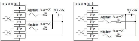 三菱触摸屏/三菱PLC优质应商供!专业销售三菱CPU,三PLC,FX1N-2EYT-BD、三菱PLC扩展模块、FX1S、FX1N、FX2N、FX3U、FX3G、A/Q/L,三菱PLC FX1N,价格优惠,保证品质,提供免费技术咨询! 三菱FX1N-2EYT-BD输入扩展板介绍: 1、2点输出扩展板 2、用于FX1S,FX1N系列内置扩展板 3、由基本单元提供电源供给 三菱FX1N-2EYT-BD输入规格: 输出点数:2点 输出连接方式:端子台 外部电源:DC5V~30V 最大电阻负载:输出1点/英:0.