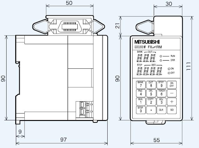 三菱fx2n系列特殊功能模块外形尺寸图 - 三菱工控自动