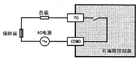 三菱FX3GA系列PLC外部接线示意图 FX3GA接线图
