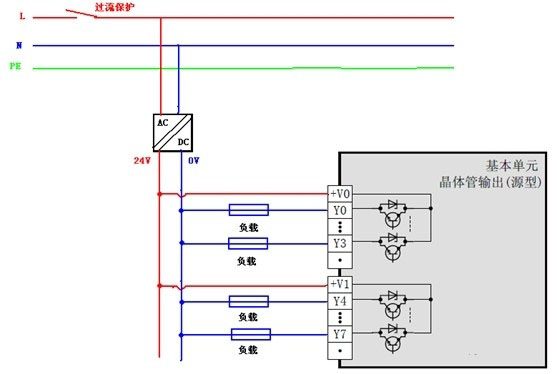 三菱fx3u系列plc输出接线图分析