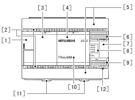 三菱plc fx3g(正面/侧面)部位名称及功能说明