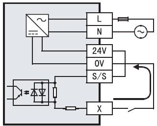 三菱plc fx系列plc漏型/源型输入电路的差别