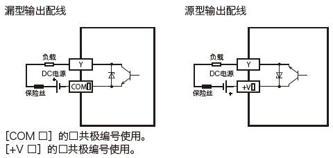 三菱PLC FX5UC-32MT/D输出电路图