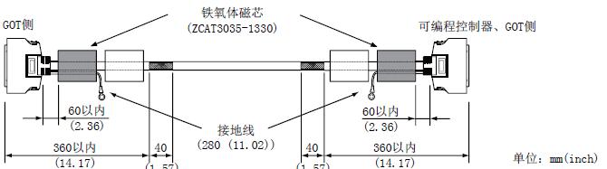 三菱触摸屏got 2000连接电缆的加工说明