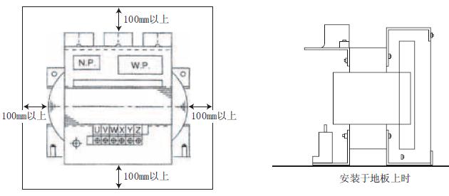 7、滤波器较重,建议直接安装在地板上。 8、请将来自变频器输出端子(U、V、W)的配线与滤波器的输入端子(U、V、W)相连接,将来自电机端子的配线与滤波器的输出端子(X、Y、Z)相连接。如果误将配线反接,会造成电阻器过热,可能导致损坏,配线时请充分注意。 9、请务必实施D种以上(10以下)保护接地。 10、配线的端子请使用带套管的压接端子。 11、关于推荐电线直径,请参照变频器主机的操作说明书。 12、使用滩波器与不使用滩波器时相比,最大转矩会稍稍减小。 13、启动转矩不足时,请增大手动转矩资开(Pr.