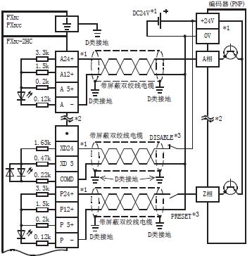 三菱高速计数器模块fx3u-2hc的外部连接及接线