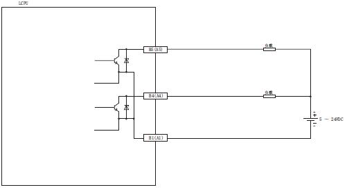 三菱输出模块接线图