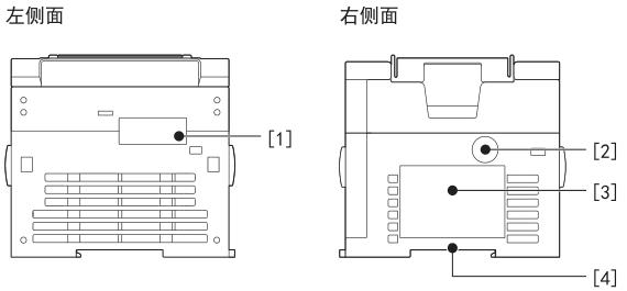 编号 名称 内容   [1] 连接扩展适配器用的保护连接扩展适配器用的连接器的盖板。将扩展适配器   连接器盖板 连接到位于盖板下的连接扩展适配器用的连接器上。   [2] 正规品认证标签 防止伪造用的正规品认证标签。