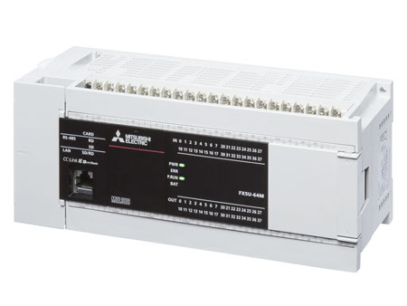 fx5u-64mt/es 三菱plc ac电源32点晶体管漏型